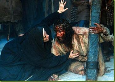 Maria encontra-se com  Jesus